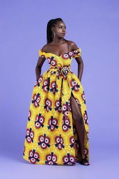 African Print Isaure Maxi Dress #LatestAfricanWear #africanclothes