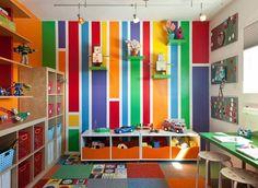 déco chambre enfant multicolore et à motif rectangulaire