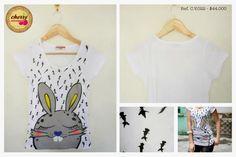 Blusa Top con Estampado de Conejo  Ref. C.V.022 // $ 44.000  Talla: S