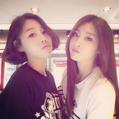 Nine Muses Sungah & Hyuna