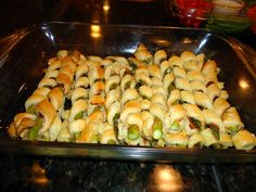 Ham Asparagus Spirals... These were totally delicious and a big hit on Thanksgiving!