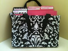 Files so neat and cute!  Fits papers perfectly in our all in one.  Lots of patterns available at www.mythirtyone.com/treats4us