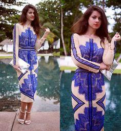 Style Inspiration: Sophisticated >> Sheinside Dress, Pull & Bear Clutch, Zara Sandals