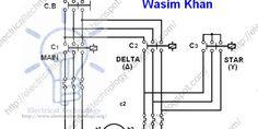 Star Delta Starter Motor Starting Method Power Control Wiring Power Circuit Diagram Electricity