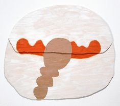 These paintings by Richard Tuttle remind me of envelopes. Painted onto raw ply the wood grain becomes part of the composition. Richard Tuttl...
