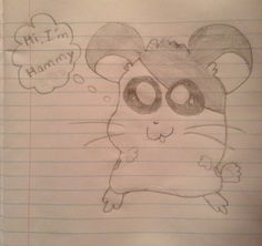 I drew a hamster