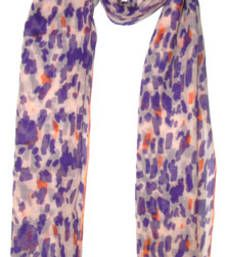 Buy GRAFFITI PATCHES PURPLE COTTON SCARF scarf online
