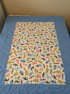 Back side of Dr. Seuss baby quilt