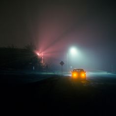 Seaside fog Art Print by Patrick Joust - X-Small Urban Photography, Night Photography, Street Photography, The Wicked The Divine, Jm Barrie, Neon Noir, Neon Nights, Album Photo, Neon Lighting