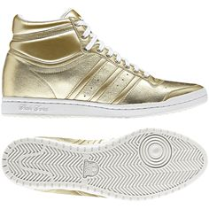 new product dc97d ca928 Adidas. TOP TEN HI SLEEK W HEEL Mujer, Metallic GoldMetallic Gold