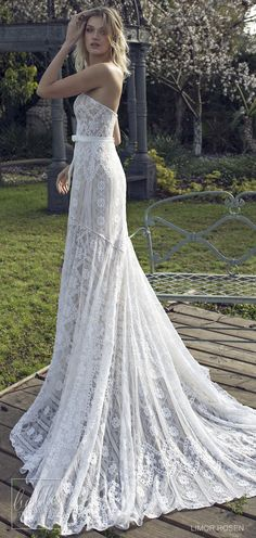 XO by Limor Rosen 2019 Wedding Dresses - Taylor mermaid wedding dress for the bohemian bride | Effortless strapless bridal gown made of dainty lace, with a front slit, a bow belt, and a gorgeously long train | Rustic wedding gown #weddingdress #weddingdresses #bridalgown #bridal #bridalgowns #weddinggown #bridetobe #weddings #bride #weddinginspiration #dreamdress #fashionista #weddingideas #bridalcollection #bridaldress #fashion #bellethemagazine #ido #dress