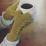 Handknit fingerless gloves $25