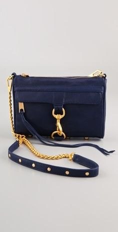 rebecca minkoff mini mac bag in navy --Bag envy. My Bags, Purses And Bags, Cute Bags, Beautiful Bags, Clutch Wallet, Rebecca Minkoff, Bag Accessories, Leather Bag, At Least