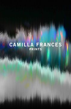 Camilla Frances, fabric designer, reminds me of Gerhard Richter paintings