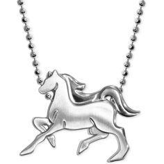 Little Horse Zodiac Pendant Necklace in Sterling Silver ($111) ❤ liked on Polyvore featuring jewelry, necklaces, no color, sterling silver necklace, animal jewelry, alex woo necklace, sterling silver horse jewelry and pendant jewelry