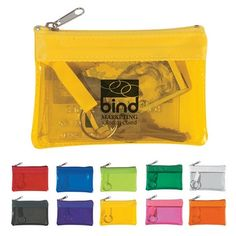 Promotional Translucent Zippered Coin Pouch | Customized Coin Pouches | Promotional Coin Pouches
