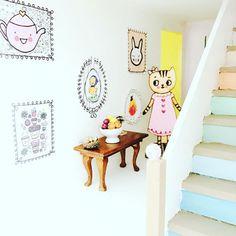 Framed Dollhouse Wall Art - 8 Adorable Miniature Modern Wall Art Prints with Frames - Instant PDF Download - Modern, Scandinavian Style