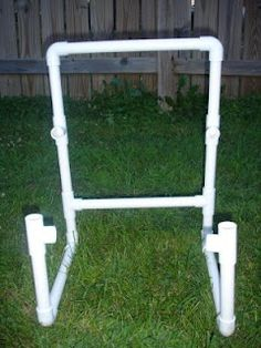 Step by step instructions on how to make the PVC child's chair.