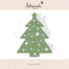 Christmas Tree // Papercuts // Holidays // Christmas Card // DXF // SVG Cut Files by SolipandiDesigns