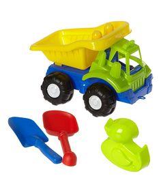 Look what I found on #zulily! Blue & Green Truck Set #zulilyfinds