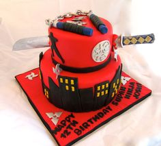 Ninja Birthday Cake This Was My First That I Made For Icing Smiles A 12 Year Old Boy