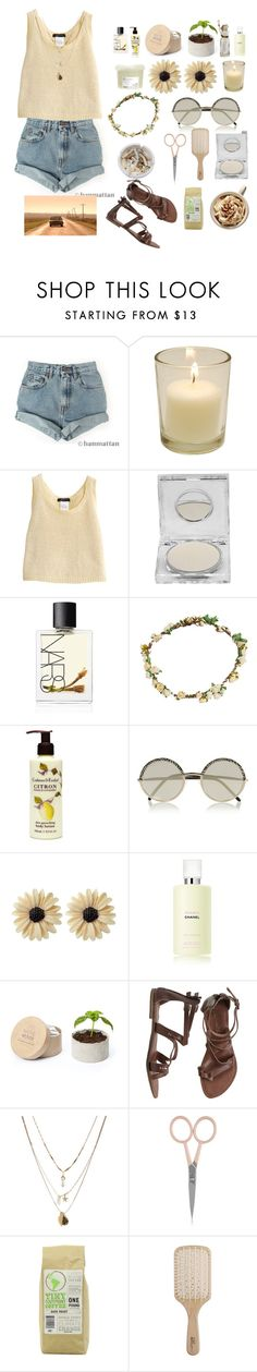 """""""bright"""" by elle01-1 ❤ liked on Polyvore featuring beauty, Levi's, Napoleon Perdis, NARS Cosmetics, Ash, Bundle MacLaren Millinery, Crabtree & Evelyn, Cutler and Gross, Rock 'N Rose and Chanel"""