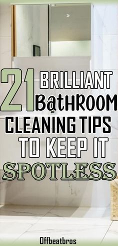 21 Amazing Bathroom Cleaning Hacks To Keep it Spotless - Bathroom cleaning is most hated and tough task. But these cleaver bathroom cleaning tricks will mak - Deep Cleaning Tips, Household Cleaning Tips, House Cleaning Tips, Diy Cleaning Products, Cleaning Solutions, Spring Cleaning, Speed Cleaning, Household Organization, Household Products