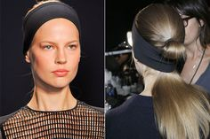 Vera Wang (Runway). Hey ladies, don't knock it until you try it. A fresh take on the low ponytail.   www.hairxtensionbar.com