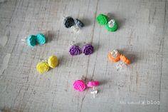Little cute earrings for a burst of colour!