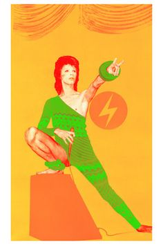David Bowie, as Ziggy Stardust, by mick rock art 4