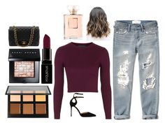 """""""Untitled #409"""" by niallerzprincess0529 ❤ liked on Polyvore featuring Topshop, Abercrombie & Fitch, Anastasia Beverly Hills, Smashbox, Sergio Rossi, Bobbi Brown Cosmetics and Chanel"""