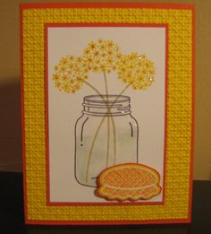 Sunny Flowers for the kitchen by UpLateStamping - Cards and Paper Crafts at Splitcoaststampers