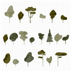 Trees Illustration, People Illustration, Photoshop Png, Photoshop Elements, Architecture Graphics, Architecture Drawings, Perspective Architecture, Illustrator, Vector Trees