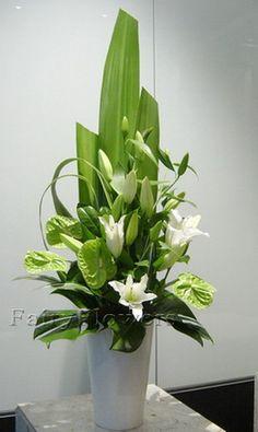 White Floral Arrangements Unique Flower Arrangements Flower Vases Floral Centerpieces Funeral Flowers Church Flowers Welcome Flowers Tall Flowers Memorial Flowers
