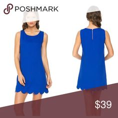 ⚡️PRICE DROP!⚡️Royal Blue Scalloped Hem Dress Timeless, sleeveless, royal blue scalloped hem dress from La Boutique! Boutique Dresses