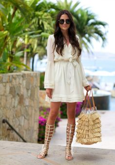 493cc6feef3a Style Insider. YslSummer WearSpring Summer FashionSpring OutfitsOutfit  SummerGladiator Sandals OutfitGladiatorsWhite ...