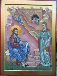 Christ & St. Photini ( Samaritan Woman ) by Giancarlo Pellegrini