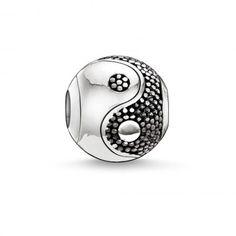 Thomas Sabo Karma Beads Round Silver and Blackened Silver Yin-Yang Charm #newin #yinyang #thomassabo