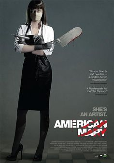 American Mary Written and directed by Jen and Sylvia Soska, American Mary is a 2012 body horror film starring Katharine Isabelle, Antonio Cupo and. Horror Movie Posters, Best Horror Movies, Horror Films, Scary Movies, Good Movies, Awesome Movies, Buy Movies, Horror Icons, Film Posters