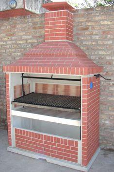 Resultado de imagen para parrilleras de ladrillos Outdoor Bbq Kitchen, Outdoor Stove, Backyard Kitchen, Outdoor Kitchen Design, Backyard Bbq, Outdoor Cooking, Outdoor Kocher, Brick Grill, Built In Braai