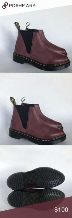 Dr. Marten Bianca Boots Brand new and never worn wine colored slip on boot! U.S Ladies 6, E.U 37, U.K 4 Dr. Martens Shoes Ankle Boots & Booties