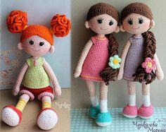 PATTERN Good girls PDF crochet two doll pattern
