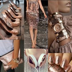 Lovin on rose gold. #fashion #rosegold #collage