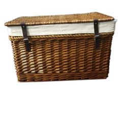 Double Steamed Wicker Trunk Chest lined Rope Handles in 3 different sizes, available separately or purchase as a set of 3 Old Wicker, Wicker Couch, Wicker Trunk, Wicker Headboard, Wicker Mirror, Wicker Bedroom, Wicker Table, White Wicker, Wicker Furniture