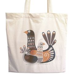 Birds cotton tote bag by Galia Bernstein Free by kenguroo on Etsy