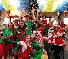 Meet Mrs Claus and the top team of Elves at Farmer Palmer's Farm Park, Poole, Dorset. Extra Christmas activities for the kids and a wonderful family festive atmosphere throughout December. Elf costume.