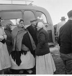 Evacués bij helikopter, watersnoodramp, Zuid-Beveland, Zeeland (1953) #Zeeland #ZuidBeveland #protestant