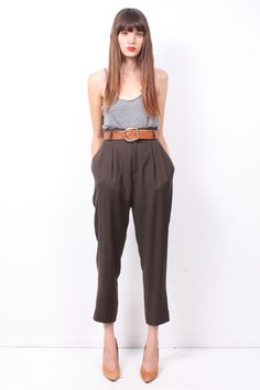 Dark Army High-Waist Trousers $49