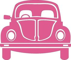 VW Pink Beetle Car Cross Stitch Chart in Crafts > Cross Stitch > Cross Stitch Patterns Silhouette Files, Silhouette Design, Car Silhouette, Pink Beetle, Beetle Car, Vw Vintage, Silhouette Portrait, Silhouette Cameo Projects, Kirigami