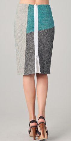 Rag & Bone Slash Patchwork Skirt